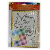 Shana Tova Dove & Shofar Picture with Jewel Stickers