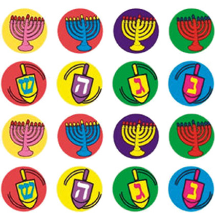 Menorahs and Dreidels Sticker Dots