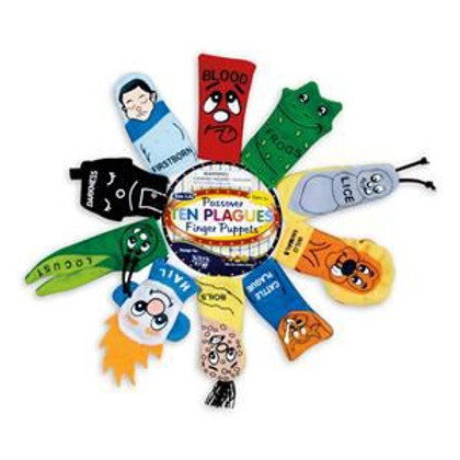 Plush 10 Plagues Finger Puppets for Passover