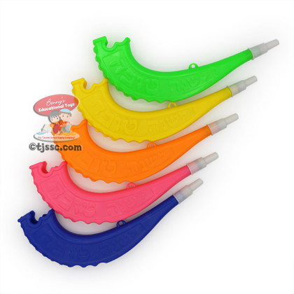 Plastic Toy Shofar in Assorted Colors