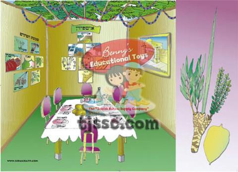 Mitzvot of Sukkot Card Stock Jewish Classroom Poster
