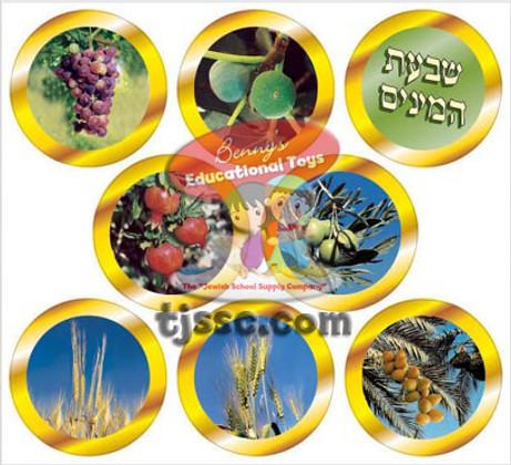 Seven Species of Israel Medallions Card Stock