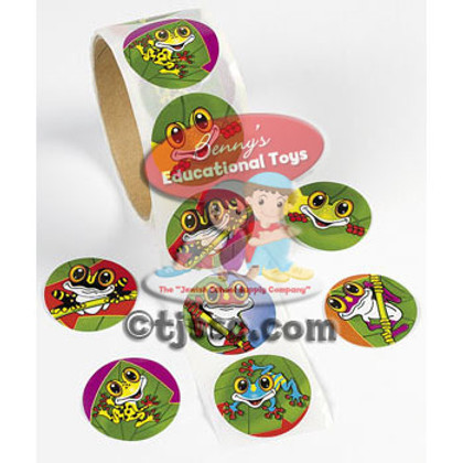 Frogs - Roll of Stickers