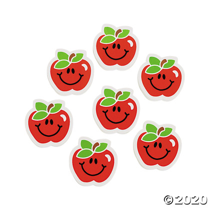 """1.5"""" Apple erasers 24 in a pack"""