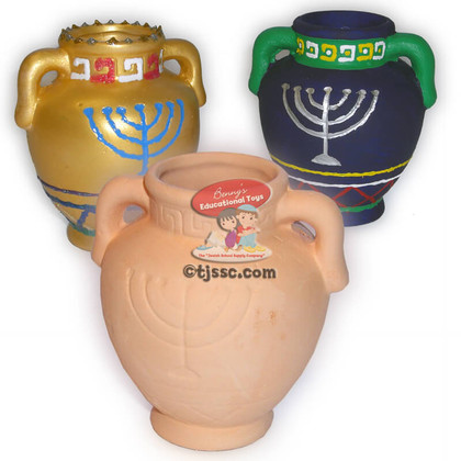 Ceramic Oil Pitcher for Decoration Hanukkah arts and craft project