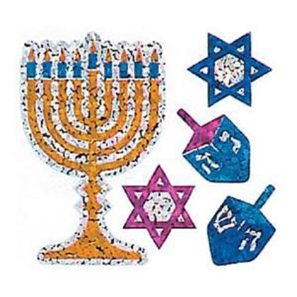 Hanukkah (Chanukah) Prismatic Stickers