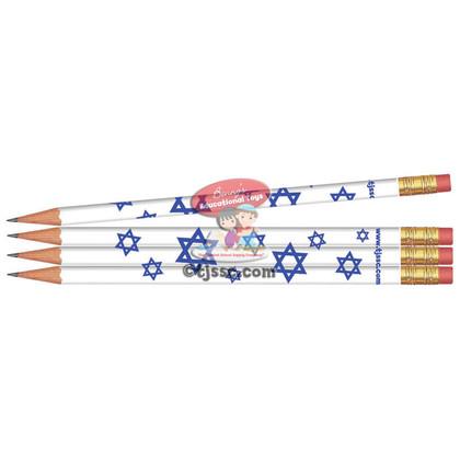 Stars of David Jewish & Hebrew Pencils