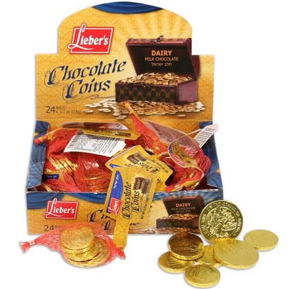 Chanukah Chocolate Gelt Coins - Cholov Yisroel