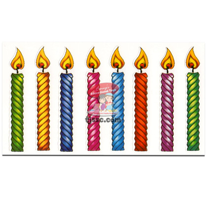 Colorful Candles 20 in a pack Card stock
