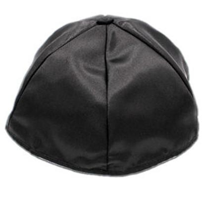 Dozen Black Satin Lined Yarmukles (Kippahs)
