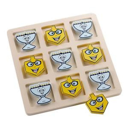 Chanukah Wooden Tic-Tac-Toe Game