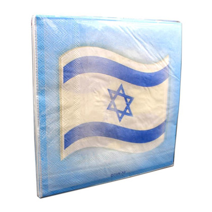 Napkins with the Israeli Flag