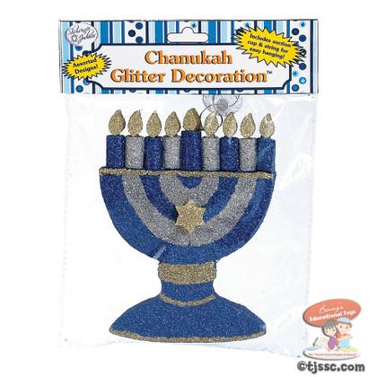 Chanukah Menorah Glitter Decoration. Hanukkah Decroation & Hanukkah Décor.
