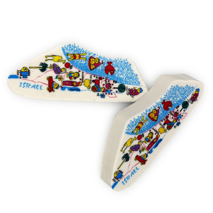 Animated Colorful Israel Map Souvenir Eraser