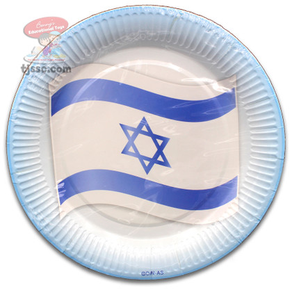 Paper Plates with the Israeli Flag