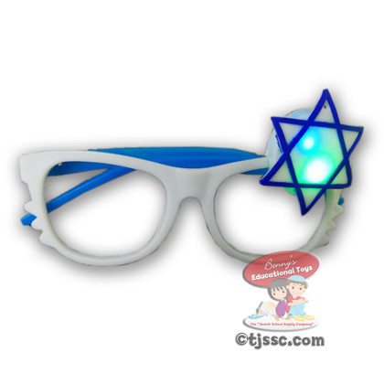 Israel Party Novelty Glasses with LED Flashing Light