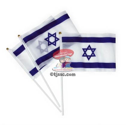Handheld Cloth Israeli Flag