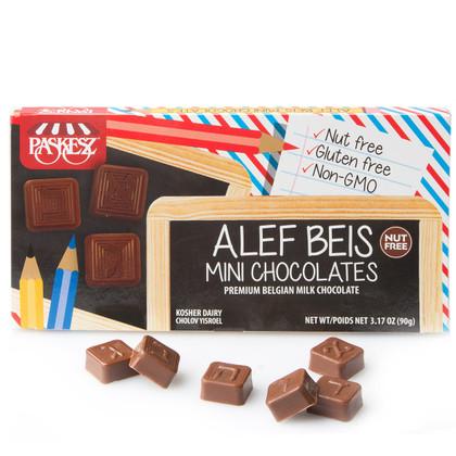 Alef Beis Mini Chocolates - Cholov Yisroel - NUT-FREE