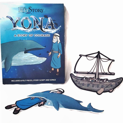 My Felt Story Yona/Jonah and the Whale, Flannel Board Story for Toddlers and Children