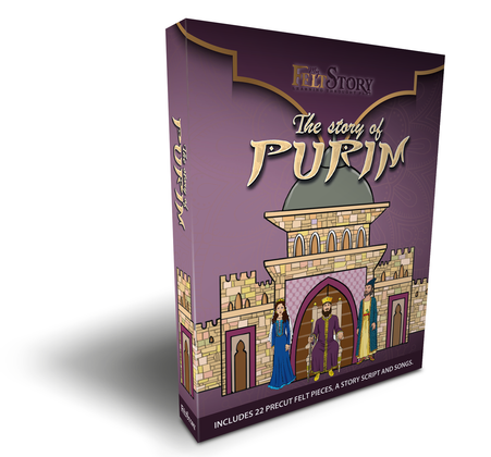My Felt Story Purim, Jewish Flannel Board Story for Toddlers and Children