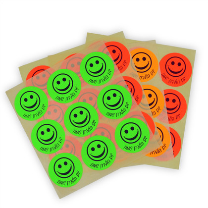 """Large Neon Birthday (in Hebrew) Stickers - 36 In a pack Size 2"""""""