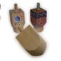 Wooden Craft Dreidel for Decoration Hanukkah arts and craft project
