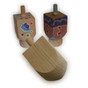 Bold Wooden Craft Dreidel for Decoration Hanukkah Arts and Craft Project w/o Base