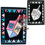 Hanukkah (Chanukah) Dreidel Velvet Art Boards Hanukkah arts and craft project