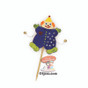 Purim Clown Gragger Craft Project in Blue