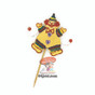 Purim craft Clown Gragger in Gold
