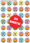 Lag Ba'Omer Symbols Stickers