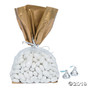 Gold Banded Cellophane Bags (12) - Great for Chanukah
