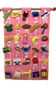 Aleph-Bet Wall Hanging in Pink