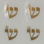 Shaday (Shin) Stickers - Gold Metallic on Clear PVC Circle