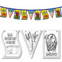 Sukkot Flag Chain for Coloring