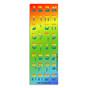 Rainbow Die-Cut Hebrew Aleph-Bet Stickers
