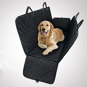 Dr. Prepare Pet Seat Cover, Waterproof, Durable, and Non-Slip Dog Cover with Hammock for Cars, Trucks, and SUVs - Black