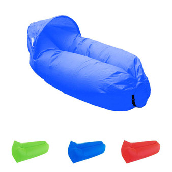 Dr. Prepare Inflatable Lounger Waterproof Portable Air Sofa with Detachable Sunshade for Beach Traveling Camping- Blue/ Green/Red