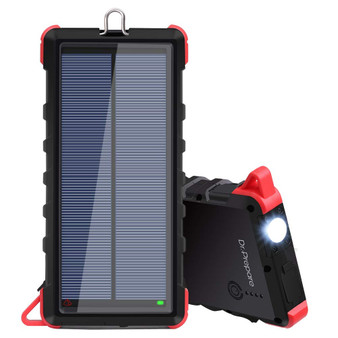Dr. Prepare 16000mAh Portable Solar Power Bank