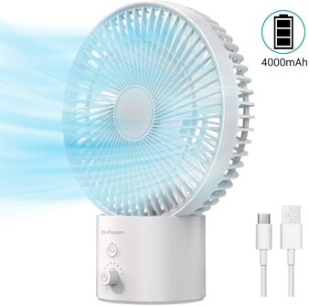 USB Oscillating Table Fan