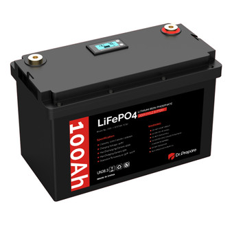 12V 100Ah LiFePO4 Lithium Iron Phosphate Battery with LED Screen