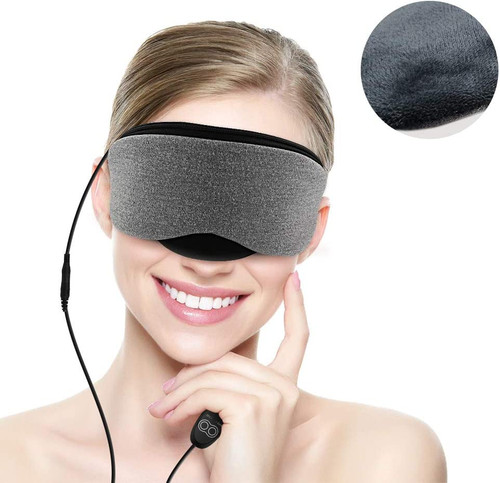 Dr. Prepare Eye Mask, USB Heated Eye Mask Warmer, Electric Steam Heating Pad with Time and Temperature Control for Sleeping, Dry Eyes, Puffy Eyes, Dark Cycles and Tired Eyes