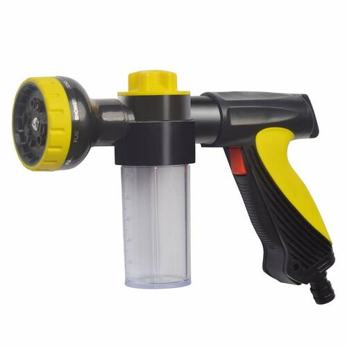 Dr. Prepare Garden Foam Nozzle Sprayer with 10 Watering Patterns and 5 Spray Patterns Automatic Foam Gun for Cars Washing, Pets Showering, or Plants Watering