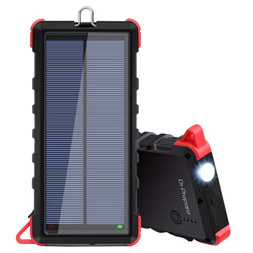 Dr. Prepare 16000mAh Portable Solar Power Bank