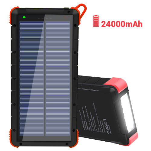 Dr. Prepare 24000mAh Portable Solar Power Bank