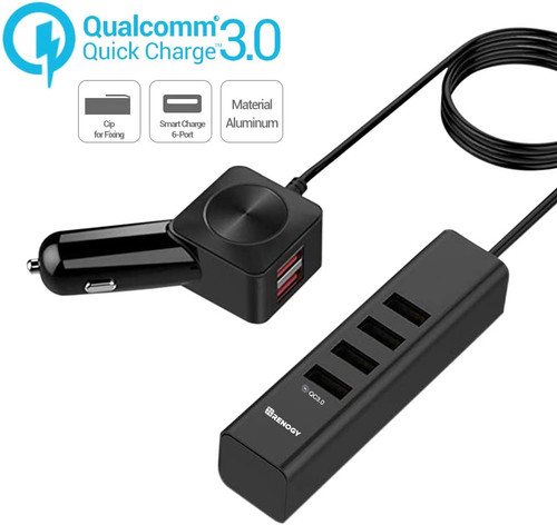60W 6-Port Quick Car Charger