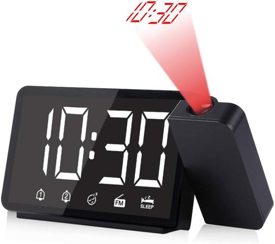 "5"" Projection Alarm Clock with FM Radio"