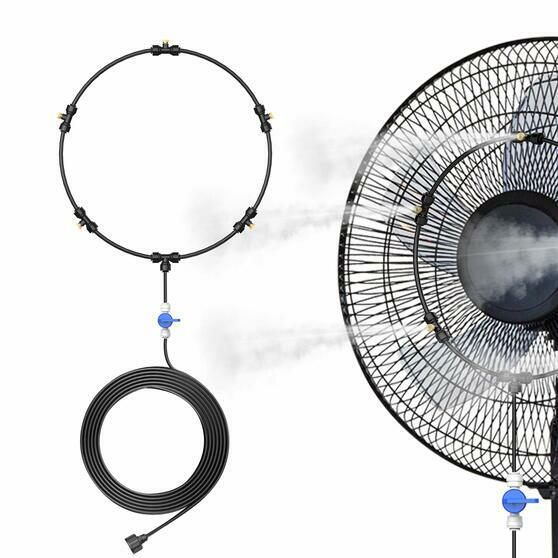 Outdoor Portable Misting Fan Kit