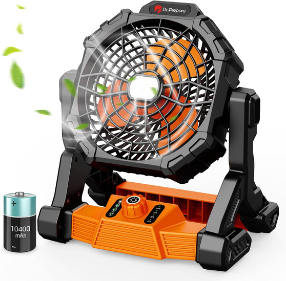 X25 Portable Camping Fan with LED Light