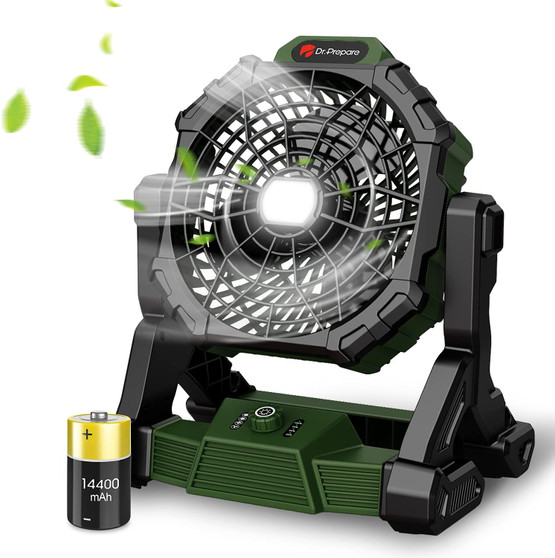 X35 Portable Camping Fan with LED Light